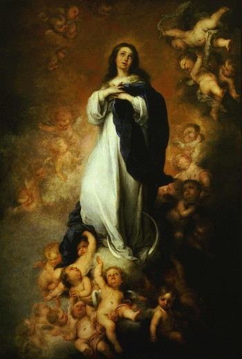 The Immaculate Conception, 1676-9 of Soult 274x190cm : Stock Photo