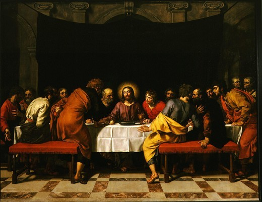 Stock Photo: 4069-1177 The Last Supper, 1618