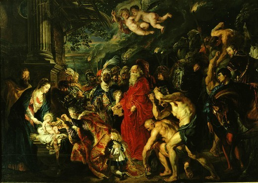 Stock Photo: 4069-1238 Adoration of the Magi, 1610