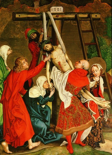 Stock Photo: 4069-1249 Descent from the cross, 1470-80