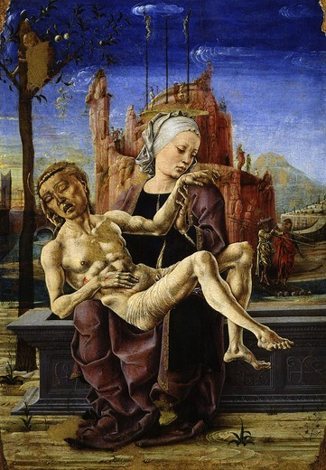 The Pieta or Lamentation c. 1460 : Stock Photo