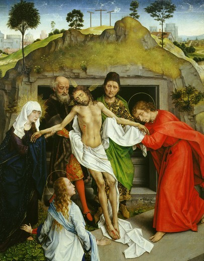 Stock Photo: 4069-1338 The Deposition of Christ from the cross c.1450 detail
