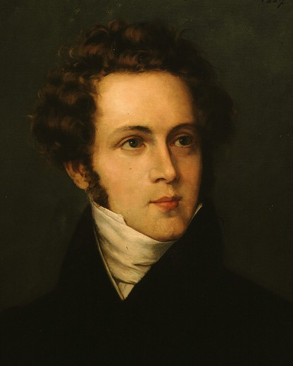 Stock Photo: 4069-1451 Vincenzo BELLINI 1801-1835 Italian composer painted 1827