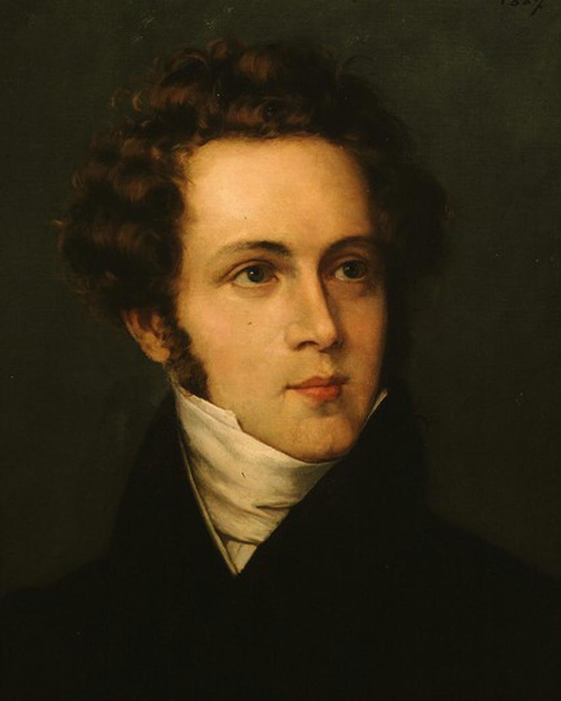 Vincenzo BELLINI 1801-1835 Italian composer painted 1827 : Stock Photo