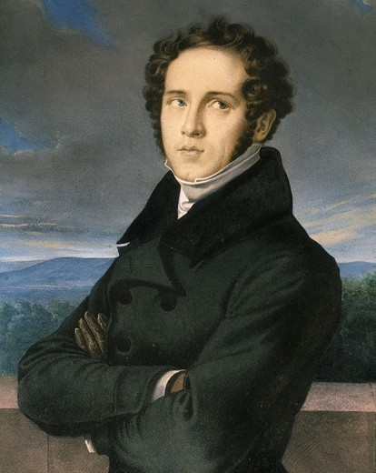 Stock Photo: 4069-1458 Vincenzo BELLINI 1801-35 Italian composer, lithograph by Millet