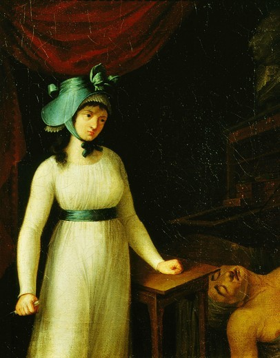 Charlotte CORDAY 1768-93, after assassination of Marat : Stock Photo