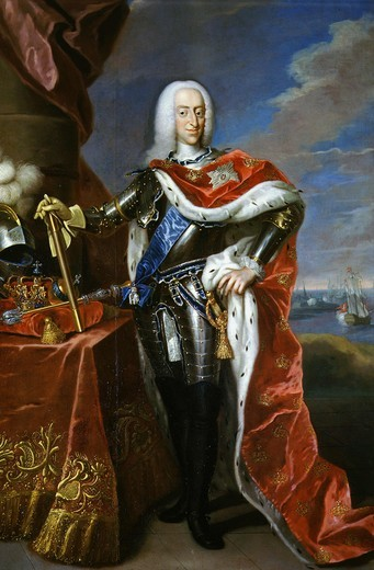 Stock Photo: 4069-1537 King CHRISTIAN VII of Denmark 1766-1808 in dress costume