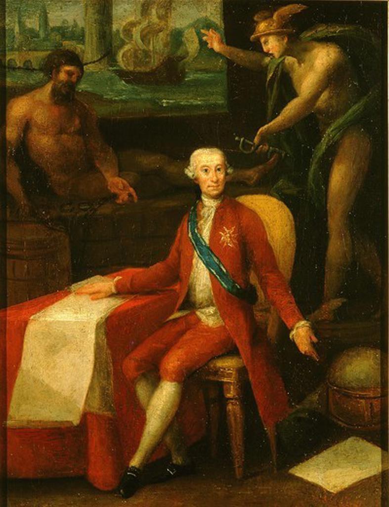 Stock Photo: 4069-1752 Jose MONINO, 1728-1808, Count of Floridablanca, lawyer, politician, Spanish ambassador