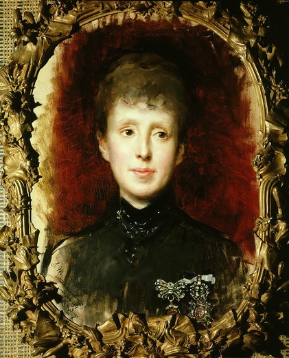Queen MARIE-CHRISTINA de HABSBURG, 1858-1929, painted 1887 : Stock Photo