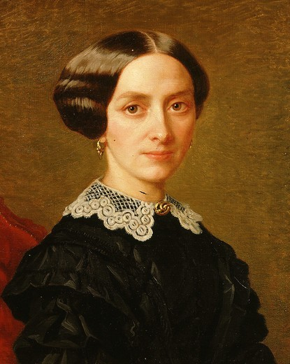 Katarina SMETANOVA, wife of Bedrich SMETANA,1824-84 Czech composer : Stock Photo
