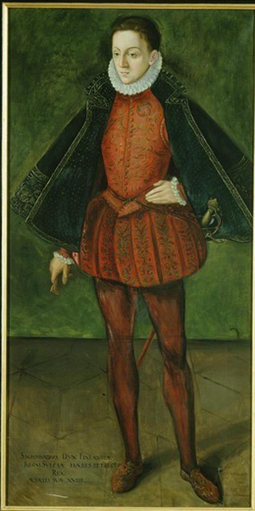 Stock Photo: 4069-2075 SIGISMUND III, 1556-1632, King of Poland, Sigismund Vasa, King of Sweden, Duke of Finland, son of King Johann III of Sweden and Catherine of Poland, by R. Ekblom