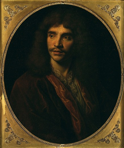 Stock Photo: 4069-2156 Jean Baptiste Poquelin, called MOLIERE, 1622-73 French playwright (MV 5053)