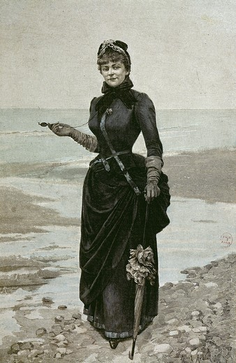 GYP, 1849-1932 French novelist (pseudonym of Sibylle, countess of Mirabeau de Martel de Joinvil), engraving : Stock Photo