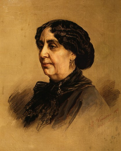 Stock Photo: 4069-2355 George SAND, (Amandine-Aurore-Lucile Dudevant nÄe Dudin), 1804-76 French novelist