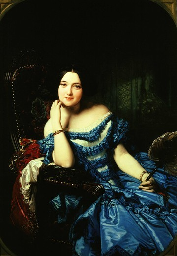 Stock Photo: 4069-2619 Portrait of Amalia De Llano U Dotres, 1821-74, Countess of VILCHES, c. 1853