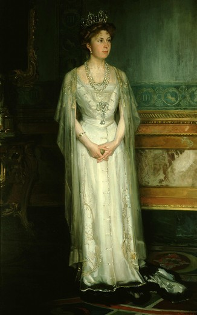 Stock Photo: 4069-2625 Queen VICTORIA Eugenia, 1887-1969, Queen of Spain wife of Alfonso XIII, 1906