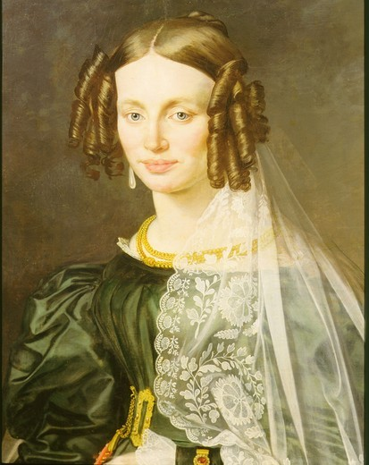 Stock Photo: 4069-2974 Anna KALARJOVA, mother of the first wife of Bedrich Smetana, 1824-84 Czech composer