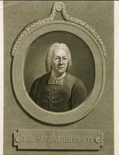 Stock Photo: 4069-3004 Johannes August ERNESTI, 18th century engraving