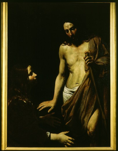Stock Photo: 4069-3053 Noli me tangere (risen Christ appears to Mary Magdalene)