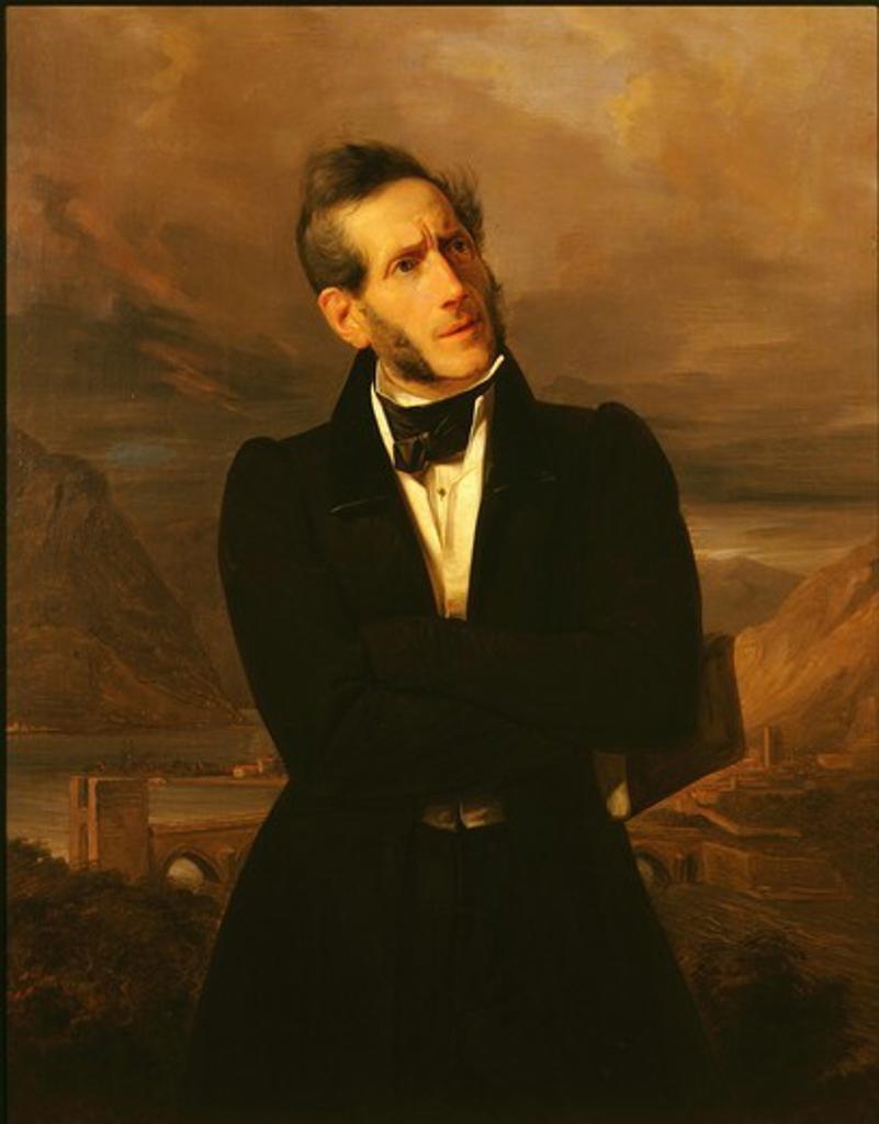 Alessandro MANZONI, 1785-1873 Italian novelist : Stock Photo