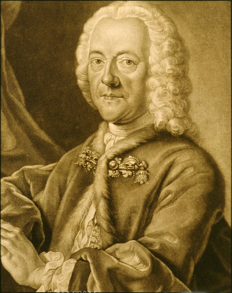 Stock Photo: 4069-3120 Georg Philipp TELEMANN, 1681-1767 German composer, engraving
