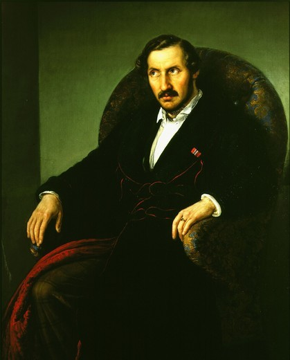 Stock Photo: 4069-3171 Portrait of Gaetano DONIZETTI, 1797-1848 Italian composer, in sickness, 19th century