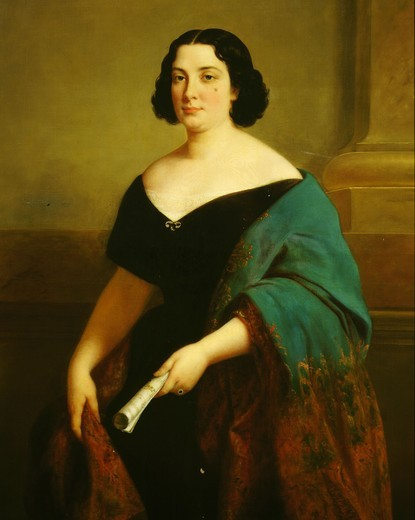 Stock Photo: 4069-3206 Portrait of Marietta TALBONI, the singer for whom Gioacchino Antonio ROSSINI, 1792-1868 Italian composer, composed the opera Cinderella