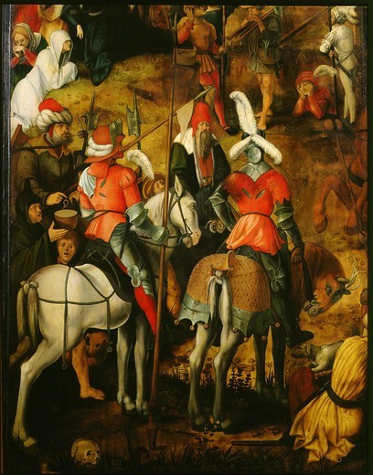 Soldiers at the Crucifixion, detail, 1505-7 : Stock Photo