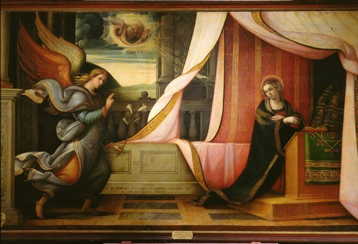 The Annunciation : Stock Photo