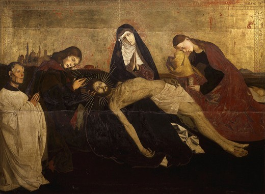 Stock Photo: 4069-3360 The Pieta of Villeneuve-les-Avignon, 1455