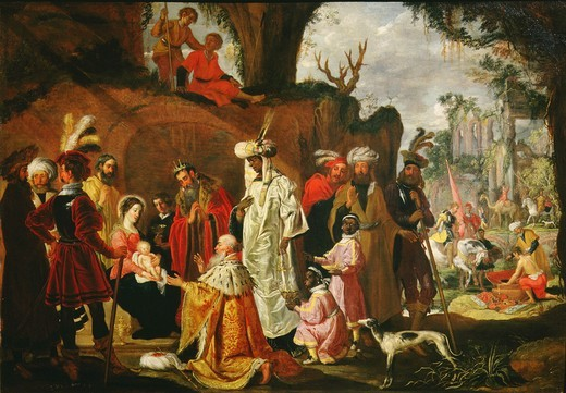 The Adoration of the Magi : Stock Photo