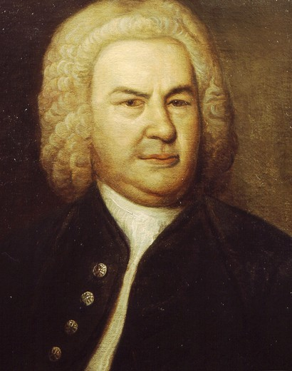 Stock Photo: 4069-3498 Portrait of Johann Sebastian BACH, 1685-1750, German composer