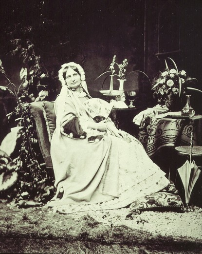 Stock Photo: 4069-3508 Princess CAROLINE Sayn Wittgenstein in Rome, 1876 photograph