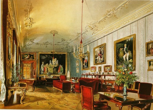 Drawing room of Princess Sophie in Schonbrunn Palace Vienna : Stock Photo