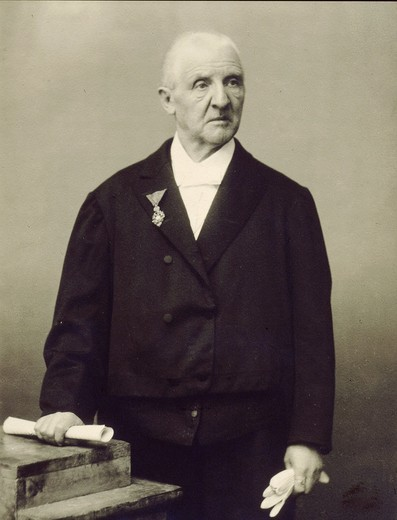 Anton BRUCKNER, 1824-96 Austrian composer, photograph : Stock Photo