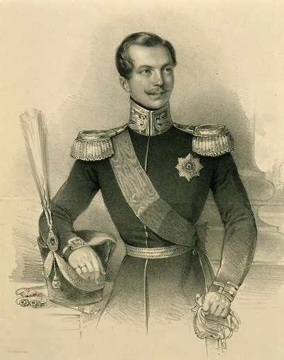 ALEXANDER II, 1818-1881, Tsar of Russia, engraving : Stock Photo