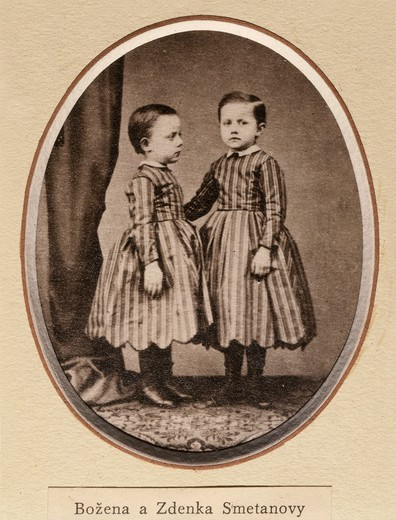 Stock Photo: 4069-3673 Bozena and Zdenka, daughters of Bedrich SMETANA, 1824-84 Czech composer, photograph