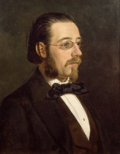 Stock Photo: 4069-3747 Portrait of Bedrich SMETANA, 1824-84 Czech composer