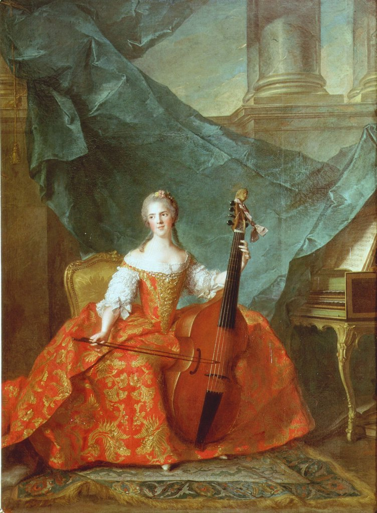 Stock Photo: 4069-3806 ANNE-HENRIETTE of France, called Madame HENRIETTE, 1727-52, daughter of Louis XV, 1710-74 King of France and Navarre (MV 3800)