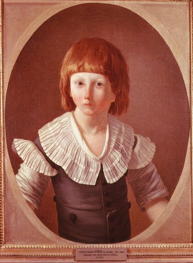 LOUIS XVII, 1785-95 titular King of France, son of Louis XVI imprisoned in the Temple, Paris, in 1793 : Stock Photo