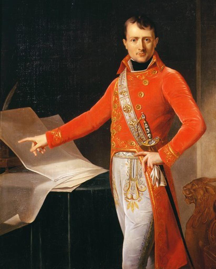 Stock Photo: 4069-4160 NAPOLEON Bonaparte, 1769-1821, Emperor of France, as 1st Consul (copy of lost 1803 portrait) (MV 4633)