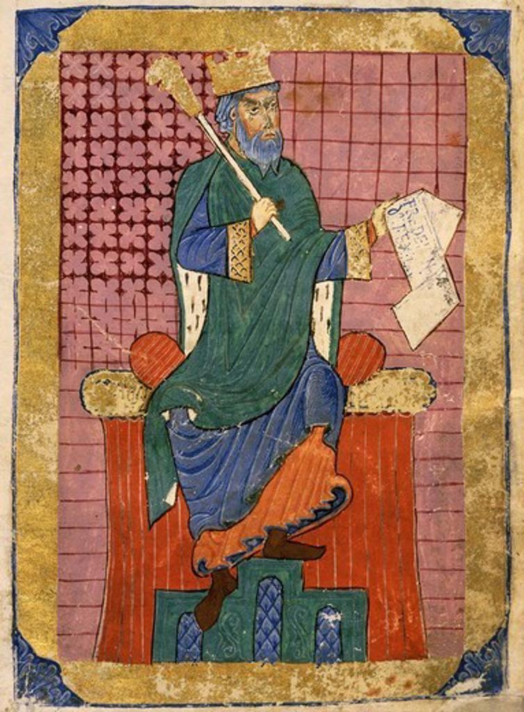 FERDINAND I, d.1065 King of Castile, Spain, Index of Royal Privileges, 12th-13th century manuscript : Stock Photo