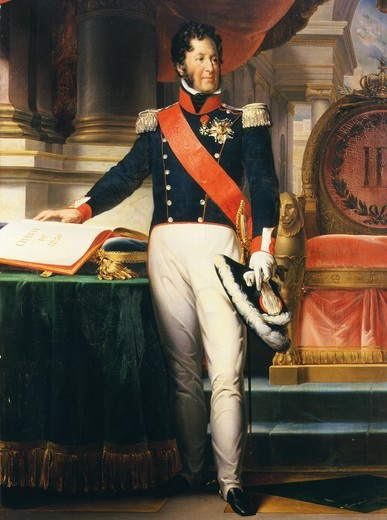 Stock Photo: 4069-4277 LOUIS-Philippe, 1773-1850 King of France, taking oath on 1830 Charter (MV 5210)