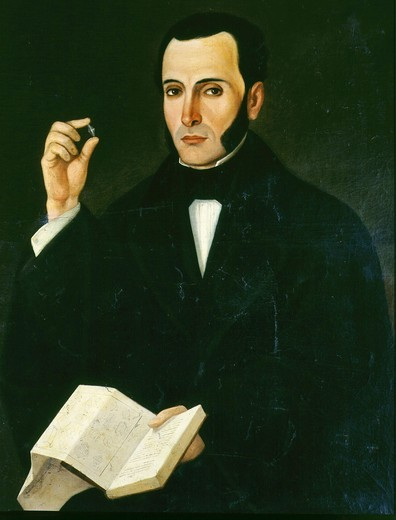 Rafael GUZMAN, 19th century Ecuadorian mineralogist (esp diamonds) : Stock Photo
