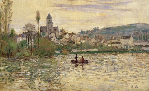 La Seine ? V?theuil, River Seine at Vetheuil, France, 1879-82 : Stock Photo