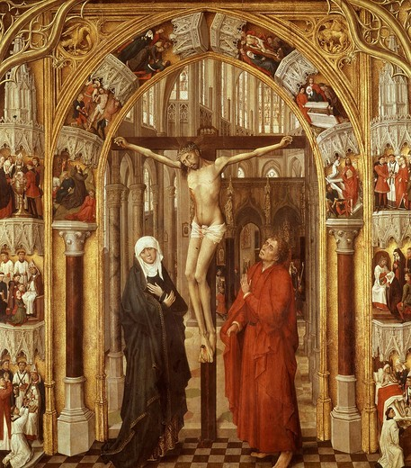 Stock Photo: 4069-4495 The Crucifixion from Redemption Triptych, also attributed to Vrancke van der Stockt