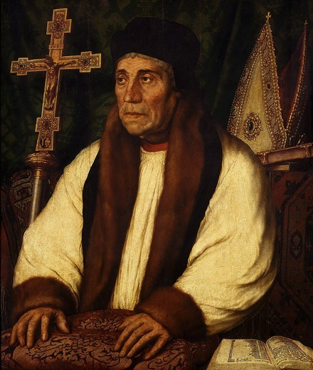 Stock Photo: 4069-4580 William WARHAM, 1457-1532 Archbishop of Canterbury, England, 1504