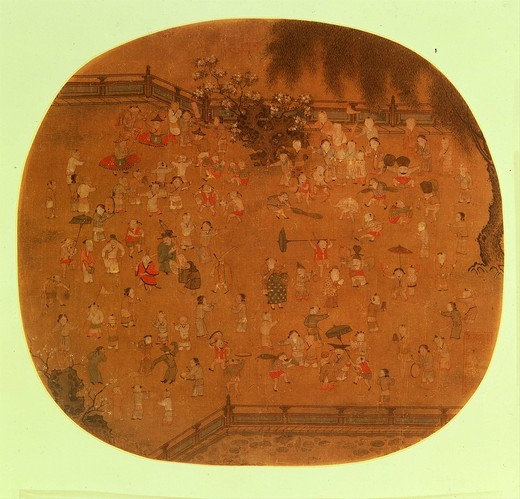 100 Children At Play, Southern Song Dynasty, 1127-1279, China : Stock Photo