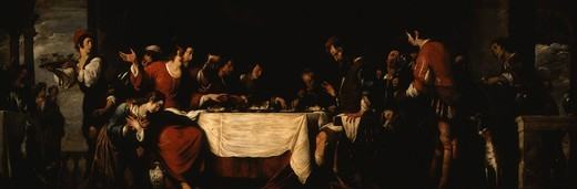 Stock Photo: 4069-4755 Banquet at the House of Simon, c. 1629