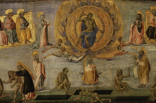 Stock Photo: 4069-4764 The Last Judgement (central panel)